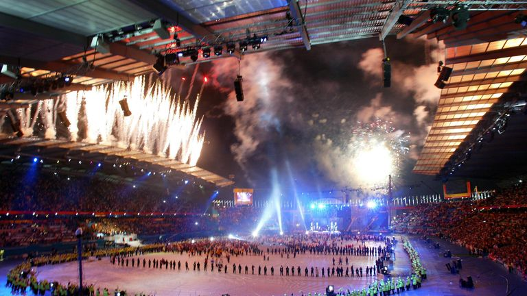 Manchester hosted a spectacular closing ceremony after the 2002 Commonwealth Games