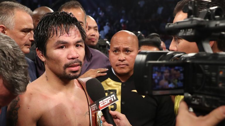 Manny Pacquiao is expected to announce his future plans this week