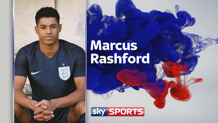 Marcus Rashford  - wearing the new England away kit, which will be worn for the first time in a friendly against Germany on Wednesday - tells his story. Pic: Lotte Bea Spencer for Nike