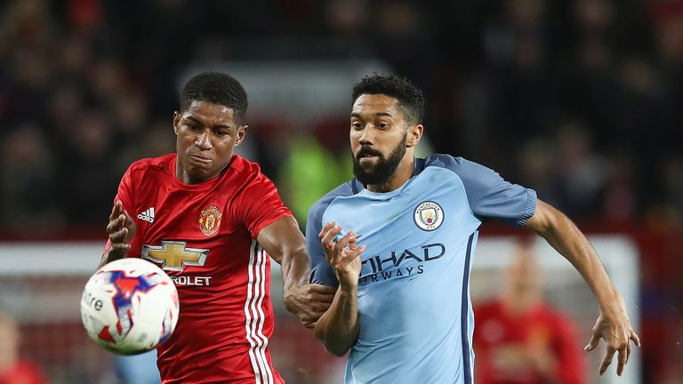 Marcus Rashford's Manchester United will face Gael Clichy's City during pre-season