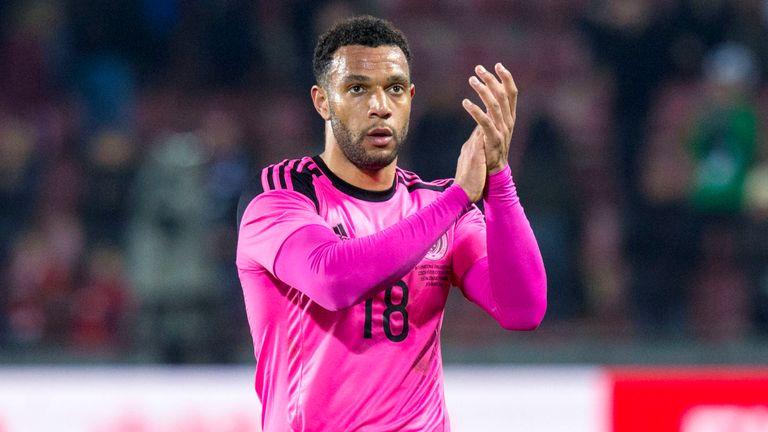 Matt Phillips in action for Scotland in Prague last March