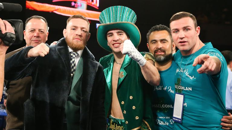 Conor McGregor showed up at Maddison Square Garden to support Michael Conlan's professional debut on St Patrick's Day