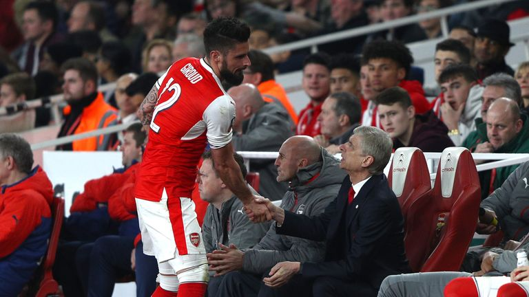 Olivier Giroud says Arsene Wenger retains the support of his Arsenal players