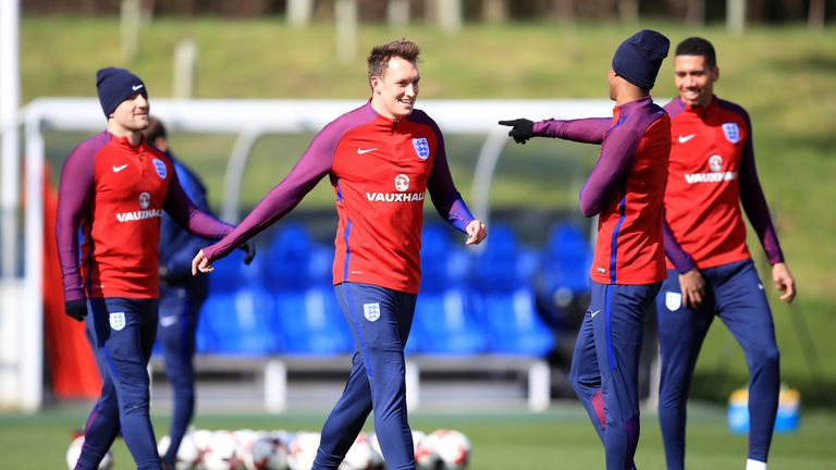 Phil Jones was one of three England players to miss training on Tuesday ahead of the World Cup qualifier against Malta