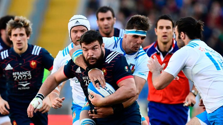 Italy were outclassed by France in Rome on Saturday