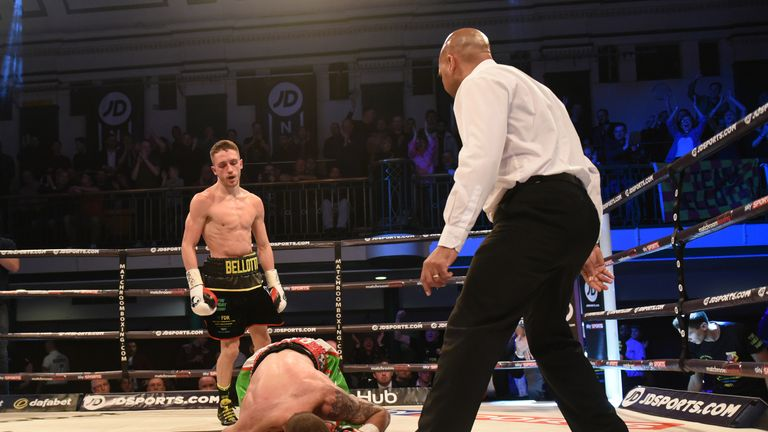 Reece Bellotti moved to 9-0-KO8 with a third-round finish