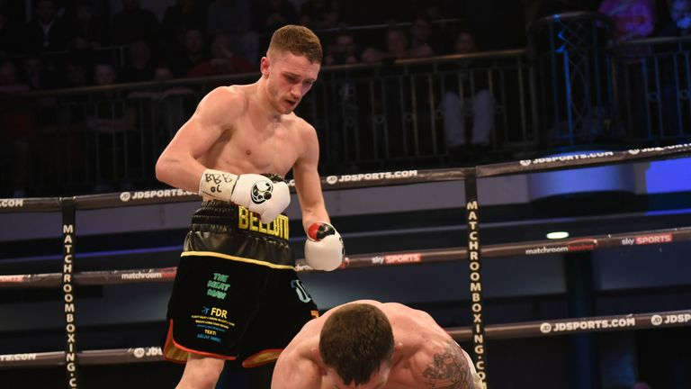 Davies was floored by a straight right from 'Bomber'