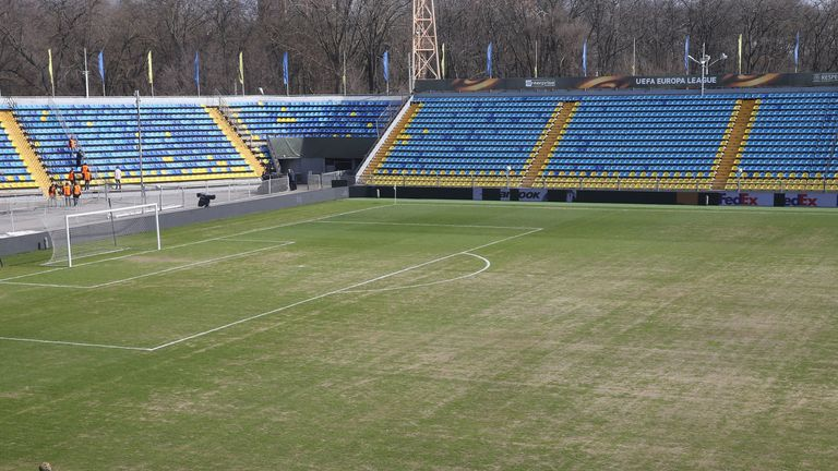 A general view of the pitch at Rostov