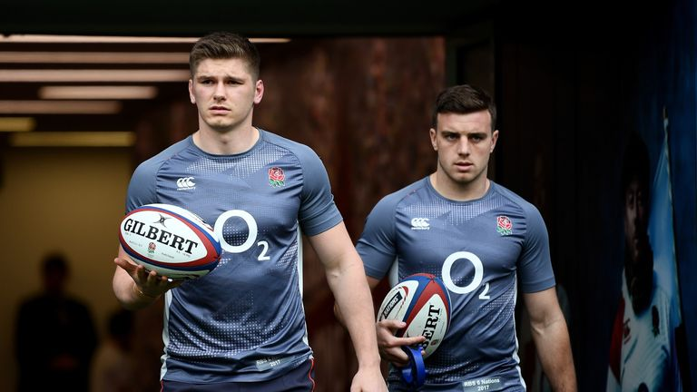 Owen Farrell (L) and George Ford should both go on the Lions tour, says Barnes