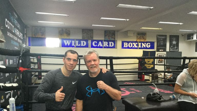 Quigg has been training with Freddie Roach in recent weeks