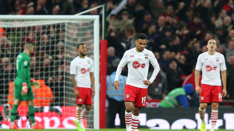 Southampton did make the League Cup final, but lost 3-2 to Manchester United in February