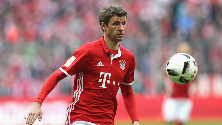 Thomas Muller struck only his second league goal of the season