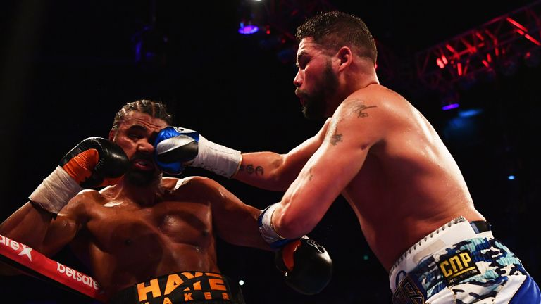 Bellew beat David Haye at the O2 Arena on Saturday night