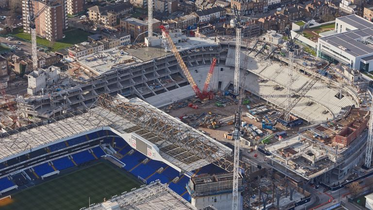 Work continues on the new home of Tottenham Hotspur - pic courtesy Tottenham Hotspur FC