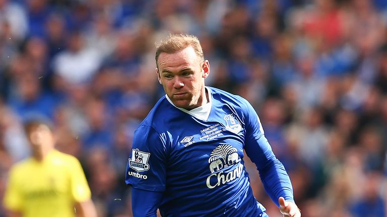 Wayne Rooney in action during the Duncan Ferguson Testimonial match in 2015