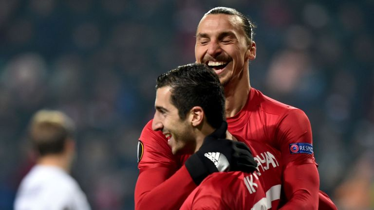 Henrikh Mkhitaryan scored a crucial away goal for United at Rostov