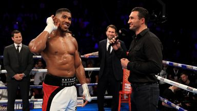 Anthony Joshua's fight with Wladimir Klitschko was announced after IBF champion's win over Eric Molina
