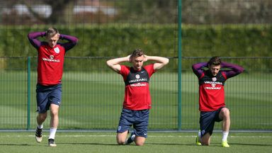 England trained on Saturday for the game against Lithuania at Wembley