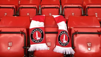 Charlton Athletic's tribute to PC Keith Palmer, a scarf placed over his seat at The Valley (credit: Charlton Athletic FC)