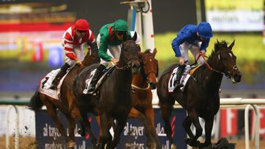 Vazirabad beats Beautiful Romance to win the Dubai City Of Gold for the second year running on World Cup day at Meydan.