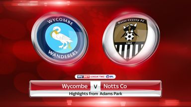 Wycombe 0-1 Notts County