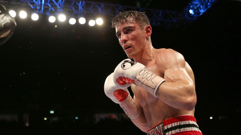 Anthony Crolla during the WBA, WBC Diamond and Ring Magazine Lightweight World Titles fight at Manchester Arena