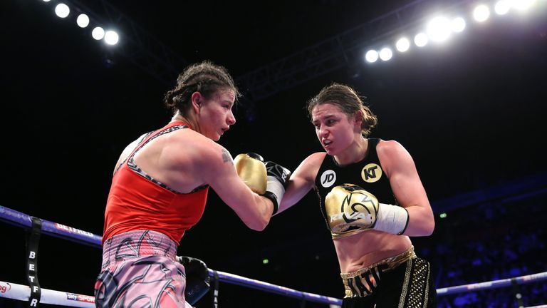 Katie Taylor overcame Bulgarian Milena Koleva for her fourth professional victory