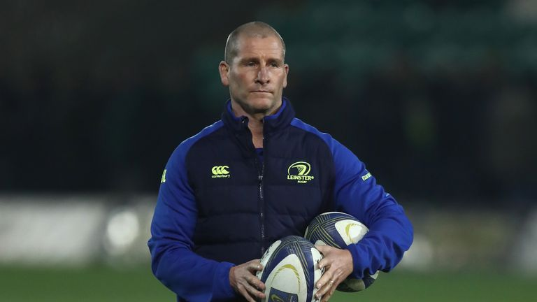 NORTHAMPTON - DECEMBER 09 2016:  Stuart Lancaster the Leinster assistant coach looks on during the European Rugby Champions Cup match against Saints
