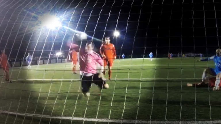 Consett AFC's goalkeeper Peter Jeffries pulled off the save of the season during his team's defeat to South Shields FC.