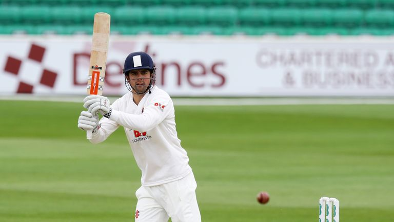 Alastair Cook hit his 58th first class century on day one against Hampshire