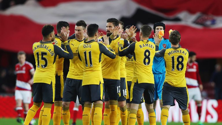 Arsenal ended a run of four Premier League away defeats on Monday