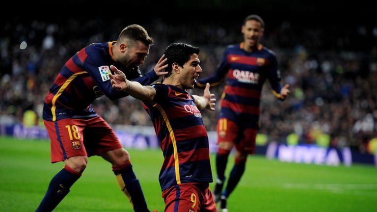 Luis Suarez scored twice in Barca's 4-0 win at the Bernabeu last season