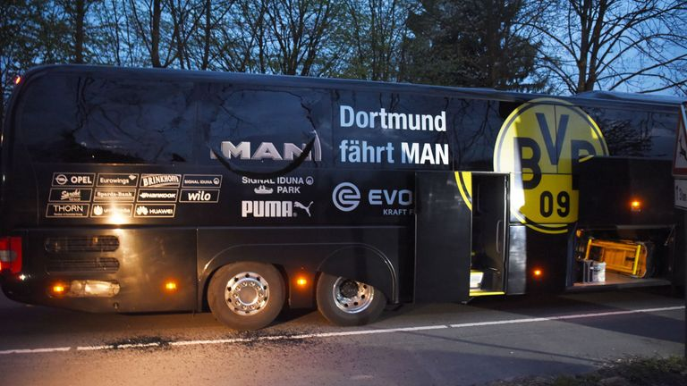 Borussia Dortmund's bus was attacked prior to last week's Champions League match against Monaco