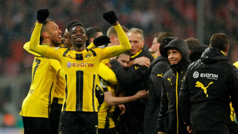 Dembele won the German Cup with Dortmund last season