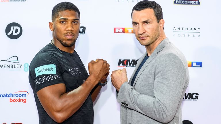 Anthony Joshua will face Wladimir Klitschko at Wembley Stadium on April 29, live on Sky Sports Box Office
