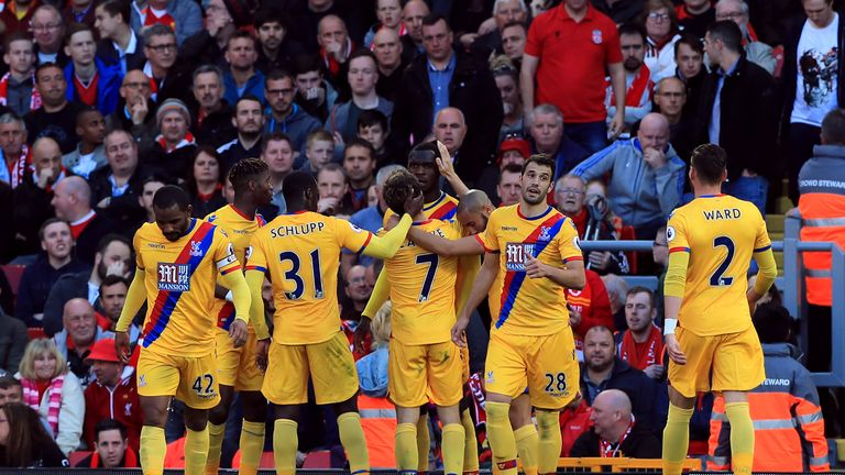 Christian Benteke played down celebrations when he scored against former club Liverpool at Anfield