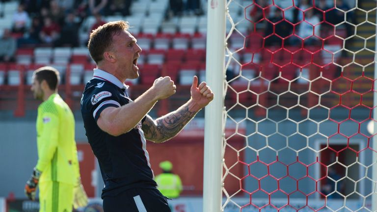 Craig Curran equalised for Ross County against Hamilton after Giannis Skondras had been sent off