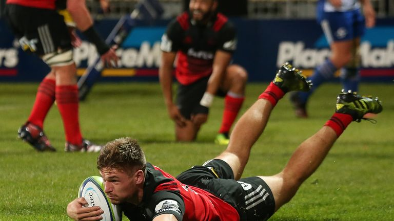 George Bridge scored three first-half tries for the Crusaders