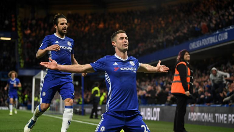 Gary Cahill restored Chelsea's lead just before half-time
