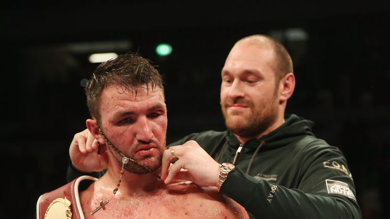 Hughie Fury hopes to regain world titles which were vacated by his cousin Tyson