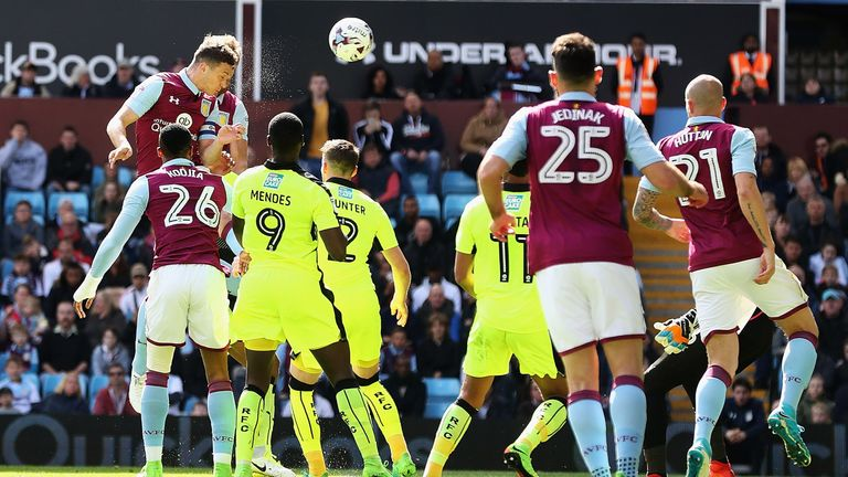 James Chester equalised for Villa with a close-range header