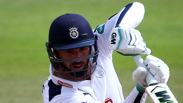 Hampshire's James Vince cashed in with a century at the Ageas Bowl