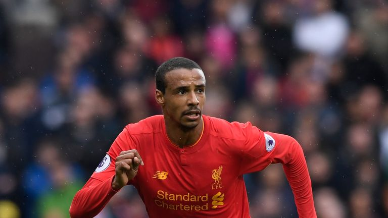 Joel Matip is one of three central-defensive options that could miss this Sunday's game against Crystal Palace