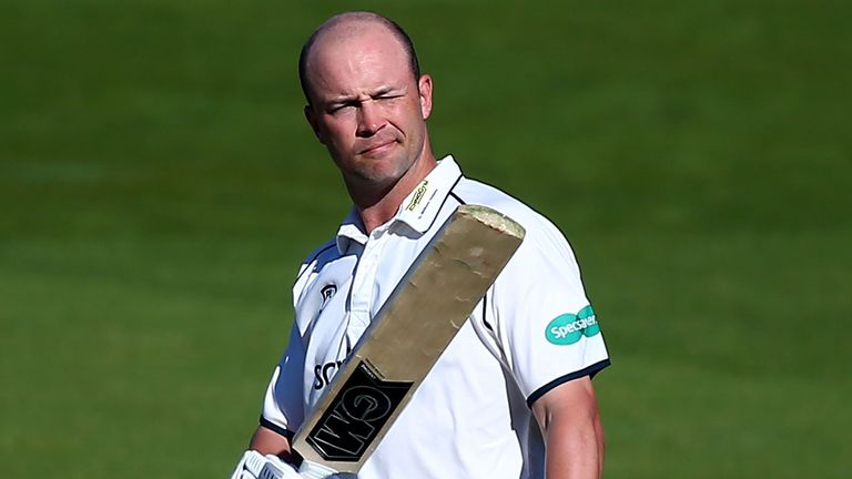 Jonathan Trott raised his bat again with a half-century