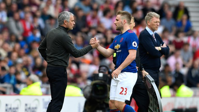 Mourinho praised Shaw's display against Sunderland on Sunday