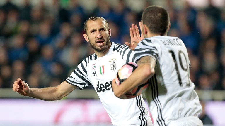 Juventus centre-back Giorgio Chiellini provides an aerial threat at both ends