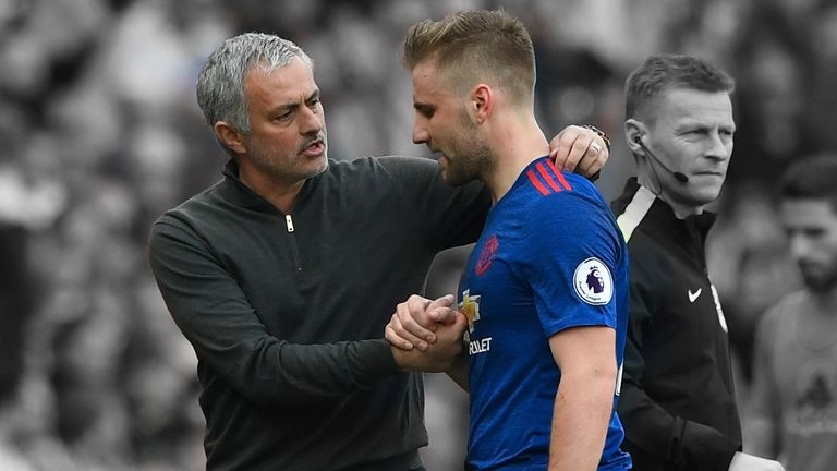 Shaw played 61 minutes on his return to the Manchester United starting line-up
