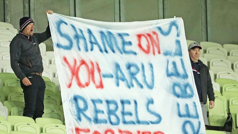 Rebels supporters have made their feelings on their team's apparent fate known at recent matches
