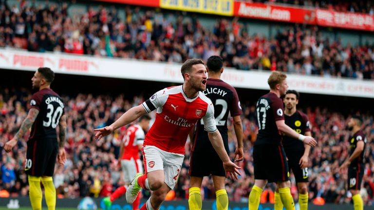 Shkodran Mustafi secured a point for Arsenal when they faced Man City in the Premier League at the Emirates earlier this month