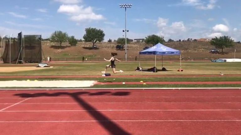 Olivia has been in flying form in Florida in the long jump